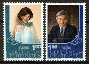 Liechtenstein 1982, Stamp exhibition LIBA 82, Vaduz VF MNH, Mi 797-98 cat 3,4€