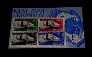 MALAWI #36a, 1965, MALAWI UNIVERSITY, SOUVENIR SHEET, MNH, NICE! LQQK!