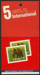 Canada 1178b Booklet BK105b - Lunch Saver MNH Grizzly Bear