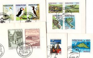 FAROES. 1978. Year setts on FDC covers.