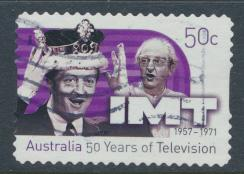 Australia  SC# 2577  In Melbourne Tonight IMT 50 Years of Television Used