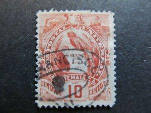 A4P10F21 Guatemala 1886 Litho 10c used