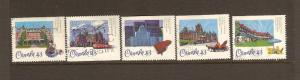 CANADIAN SETS ON CP HOTELS USED STAMPS  LOT#17