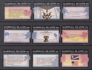 Marshall Islands 143-151 Singles MNH VF