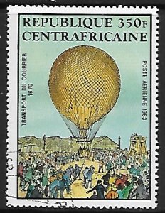 Central African Republic # C284 - Hot Air Balloons - used....(BRN8)
