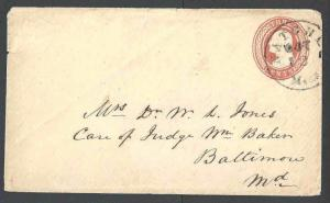 1853 U1 Used Entire 3c Red On White Nesbitt Seal On Flap Die 1 UPSS #2a See Info