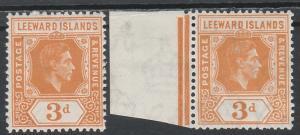 LEEWARD ISLANDS 1938 KGVI 3D BOTH SHADES MNH **