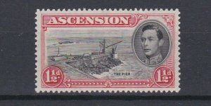ASCENSION  1938  S G 140  1 1/2D BLACK  & VERMILION  PERF 131/2 MNH