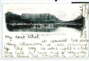 SOUTH AFRICA Cape Town GB London Postcard Devil's Peak 1905 {samwells} CW297
