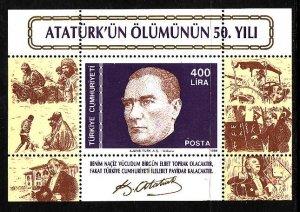Turkey MNH S/S 2427 Life Of K. Ataturk 1988