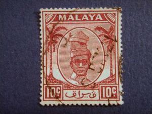 PERAK, 1950, used 10c. purple, Sultan Yussuf ´Izzuddin Shah