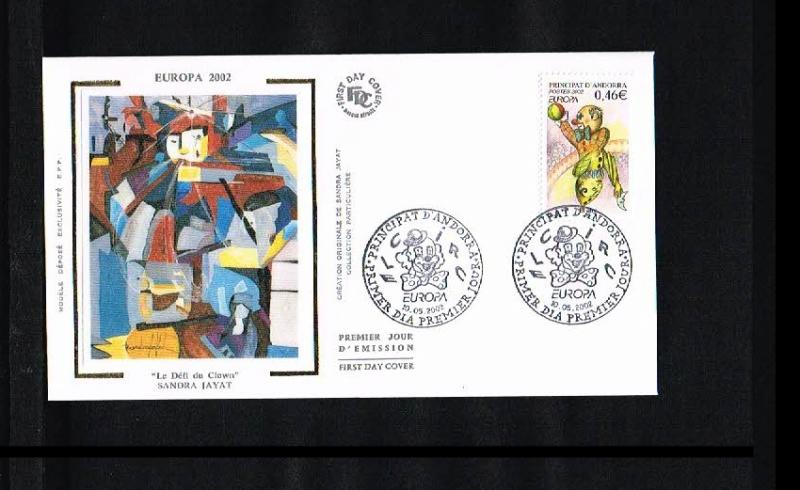 2002 - Europe CEPT FDC Andorra (French) Mi.590 [HY033]