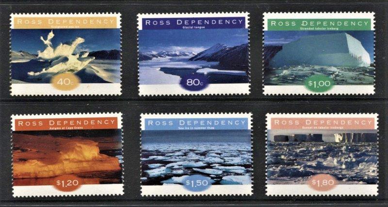 STAMP STATION PERTH Ross Dependency #L49-L54 Ice Formations Set  MNH CV$14.00