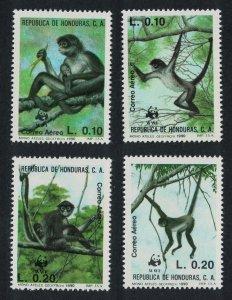 Honduras Black-handed Spider Monkey 4v SG#1107-1101