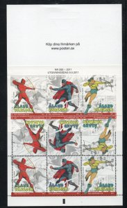 Aland Finland Sc  316e 2011  Superheroes stamp booklet mint NH
