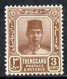 Malaya - Trengganu 1921-41 Sultan 3c brown mounted mint S...