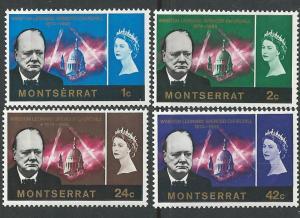 Montserrat # 178-81  Winston Churchill   (4) Mint NH