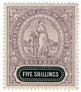(I.B) Cape of Good Hope Revenue : Duty Stamp 5/-