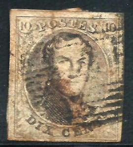 (Item 1605218) Belgium 1851-54 Scott# 6 used