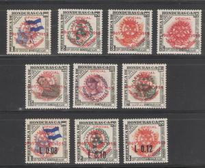 Honduras 1955 Rotary Airmails Scott # C231 - C240 MH