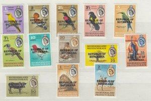 Botswana 1966 Birds Animals Set To 2 Rand MNH J8008