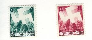 Germany, 479-80, 1936 Nazi Congress, Singles, MNH