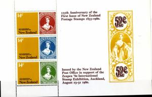 NEW ZEALAND  703aMNH S/S SCV $2.25 BIN $1.25 STAMP//STAMP