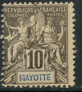 MAYOTTE 1892-1907 10c Navigation and Commerce Issue Sc 5 MH