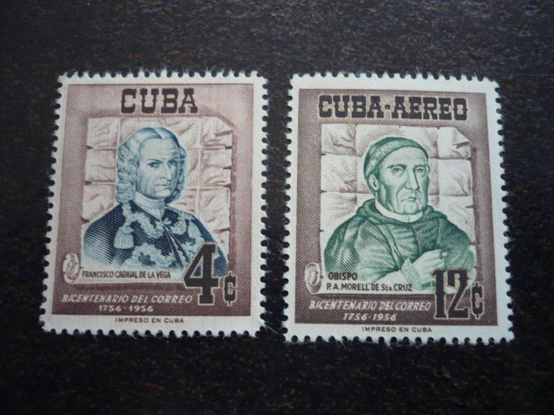 Stamps - Cuba - Scott# 552,C129 - Mint Hinged Set of 2 Stamps