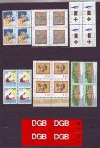 Z682 JLstamps 1998-9 germany blk/ 4 #1998,2015,2043,2044,2046,2057,2058