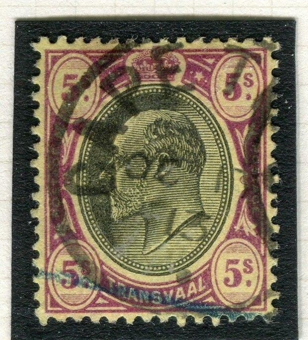 TRANSVAAL Interprovincial Period Ed VII CAPE TOWN Postmark on 5s.