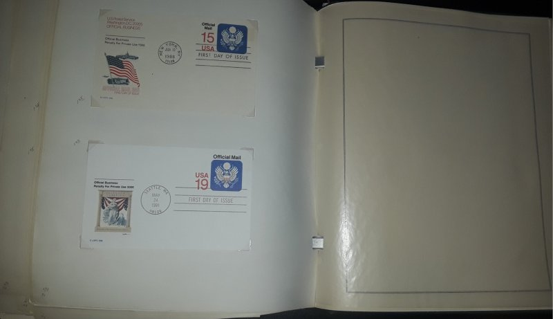 US Postal Cards and Postal Reply Cards In Album Appx. 150+ ~ FREE SHIPPING ~