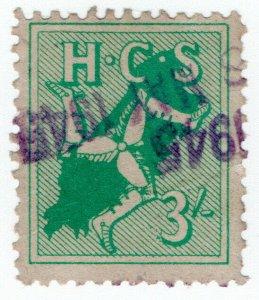 (I.B) George V Revenue : Hospitals Contributory Scheme 3/- (Isle of Man)