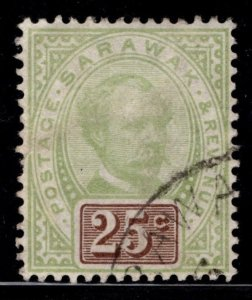 Sarawak 1888 Sir Charles Brooke 25c [Used]