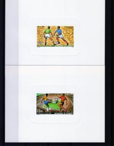 Djibouti 1986 Sc#C220/221 Football World Cup Mexico 2 SS DELUXE MNH VF