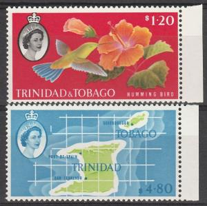 TRINIDAD & TOBAGO 1960 QEII $1.20 & $4.80 MNH ** TOP 2 VALUES