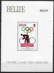 1980 Belize 460 Summer Olympics MNH S/S