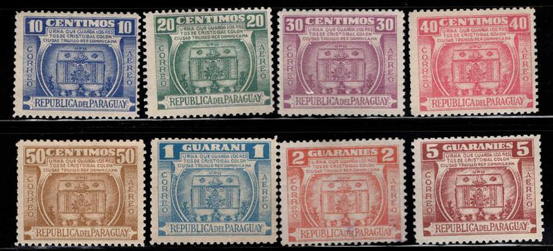 Paraguay Scott C189-196, c195 used all others MH* set