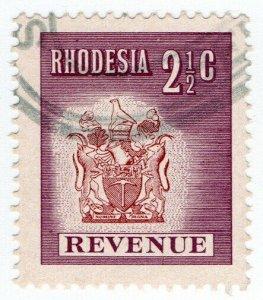 (I.B) Rhodesia Revenue: Duty Stamp 2½c (1970)
