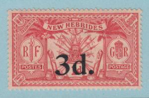 BRITISH  NEW HEBRIDES 39  MINT  HINGED OG * NO FAULTS VERY FINE !