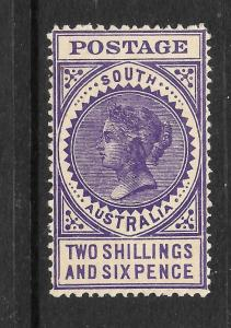SOUTH AUSTRALIA 1906-12  2/6    QV   MLH   P12     SG 304