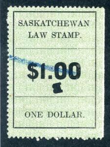 van Dam SL27 - Used- $1 - 1907 - Saskatchewan Law
