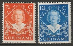 Suriname 1948 Sc 236-7 set MNH
