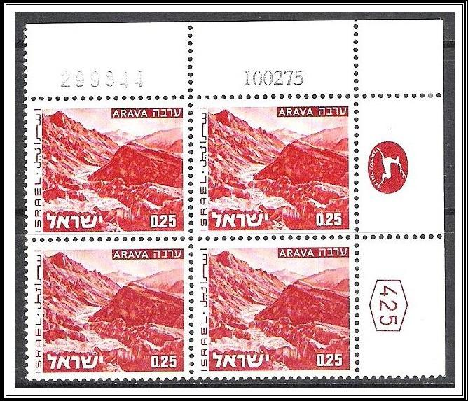 Israel Plate Block #465A Landscapes Issue Dated MNH