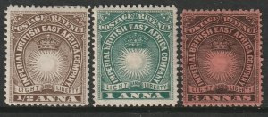 British East Africa Sc 14,15,18 MH/MNG
