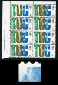 Spec W134b 1968 4d Anniversaries with Retouch on Large C Block of 8 U/M