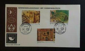 1987 Malta Esperanto Centennial Illustrated Cover