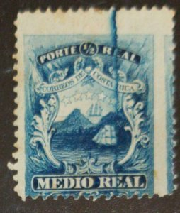 A) 1864, COSTA RICA, NATIONAL EMBLEM, BREAKAGE OF THE PLATE OF THE VERY NOTORIOU