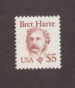 US,2196,MNH,BRET HARTE,1980'S COLLECTION MINT NH,VF