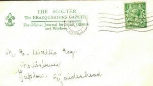 GB BOY SCOUTS Wallis Correspondence London *Gazette* 1928 {samwells-covers} T171